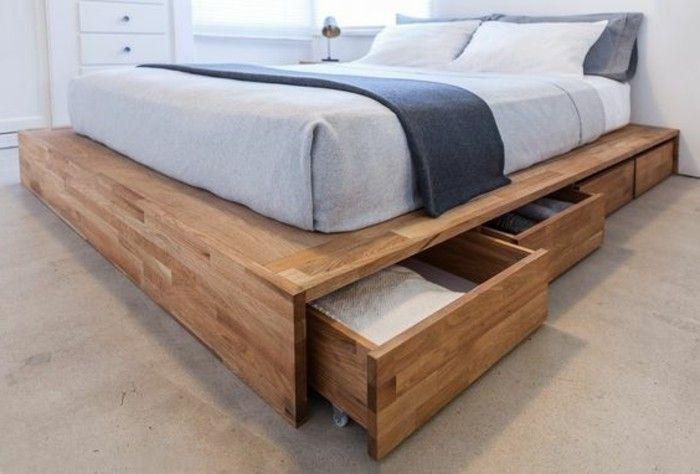 joli lit avec tiroirs, lit tiroir pas cher ikea, comment ranger la chmabre adulte