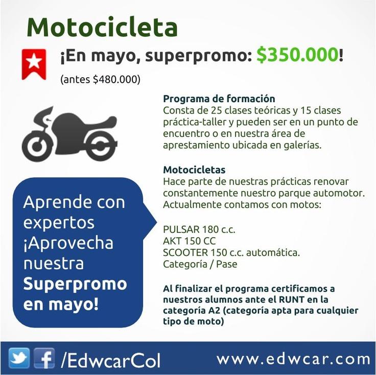 Superpromo en mayo, programa de formación para conducción de moto, Bogotá