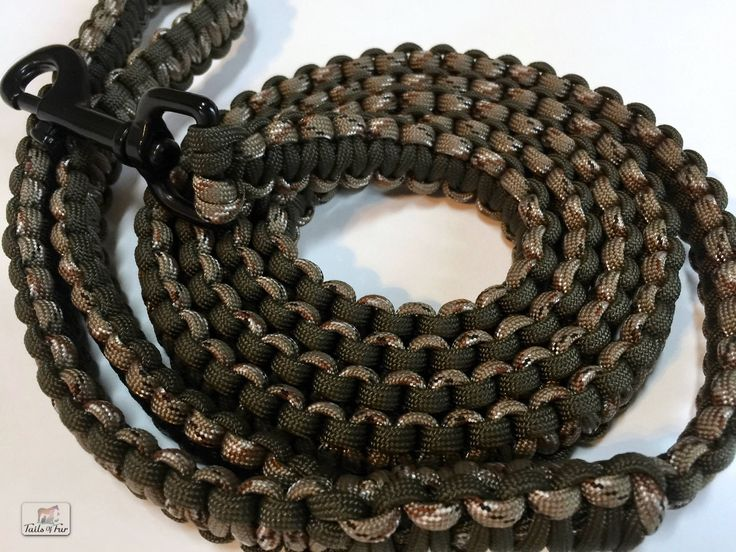Made with 550 Paracord that is customized to fit you and your pet! Leashes pictured are already completed and ready for sale or you can select a customized leash.  Made with 76ft of 550 paracord with 1 swivel trigger snap and D ring. Strong, durable leash resistant to mold and mildew. About 5 ft long. Hand wash with cool water. Customizable colors and lengths. 1-2 color choices available. Customizable stitching.  Feel free to contact me with any questions or ideas you may have.