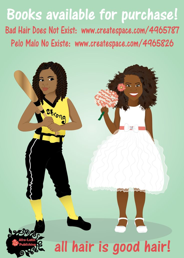 Beautiful young black girls confidently rocking their beautiful natural hair. Bad Hair Does Not Exist book are available on Bad Hair Does Not Exist: www.createspace.com/4965787 Pelo Malo No Existe: www.createspace.com/4965826  and Amazon
