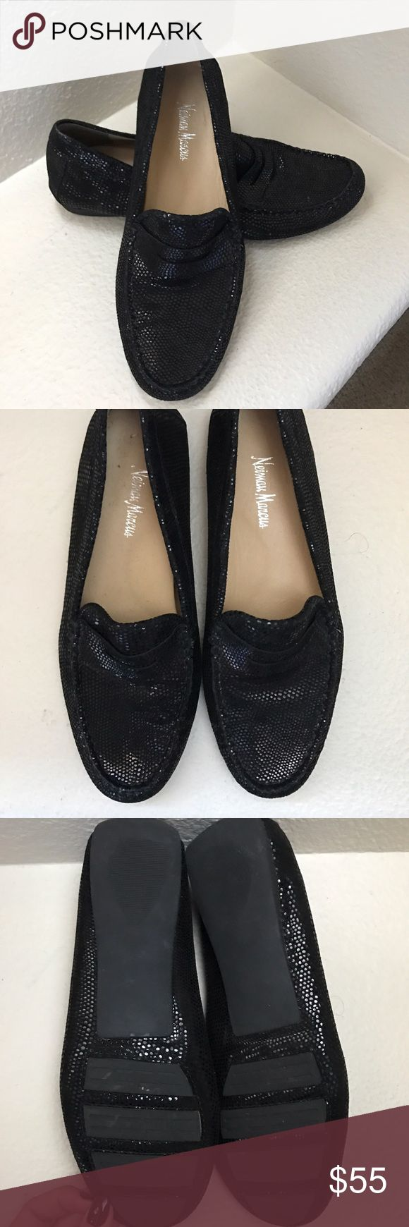 Neiman Marcus driving moccasin Black Neiman Marcus women's size 8 driving moccasin. NWOT. Never worn. Perfect condition. Neiman Marcus Shoes Flats & Loafers