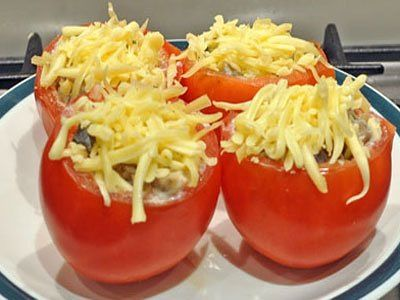 Как приготовить помидоры фаршированные курицей - рецепт, ингридиенты и фотографии