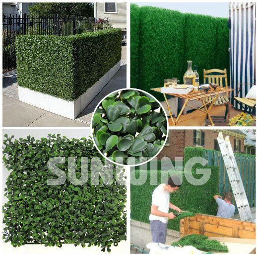 20''x20'' Inches Faux Boxwood Privacy Fence Screen Privacy Panel (Pack of 6pcs) #Uland