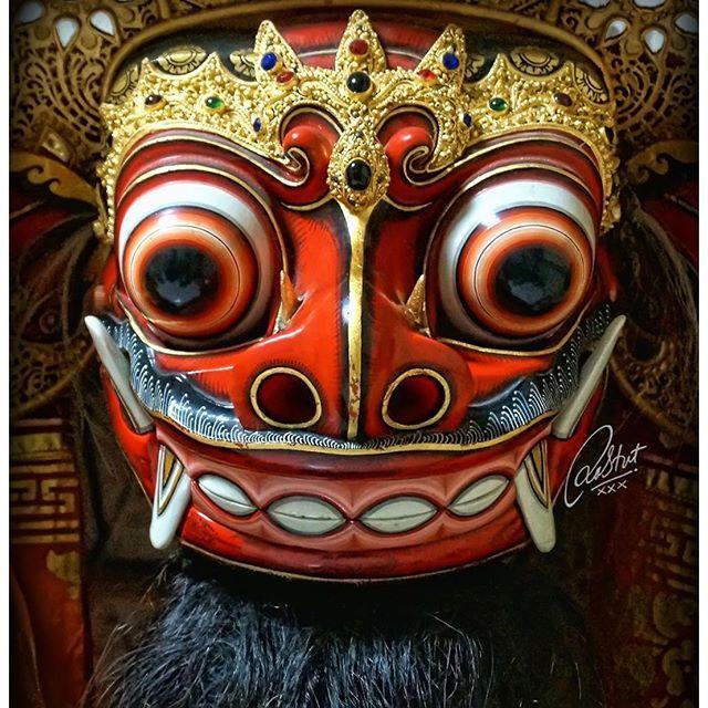 #mulpix I LOVE BALI BARONG   #barong  #mask  #pragina  #artcentre  #rahtutxxx…