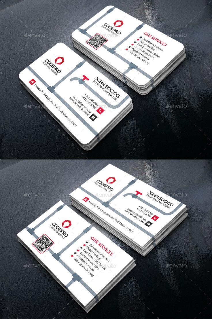 Plumbing Business Card Template PSD