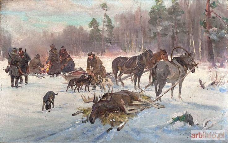 Czesław WASILEWSKI (Ignacy ZYGMUNTOWICZ) ● Powrót z polowania na łosia ●