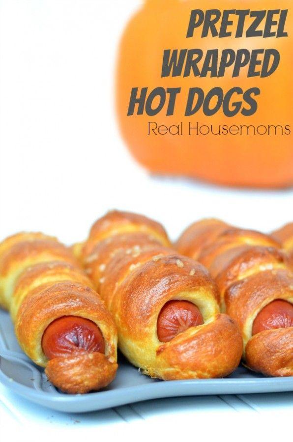 Pretzel Wrapped Hot Dogs