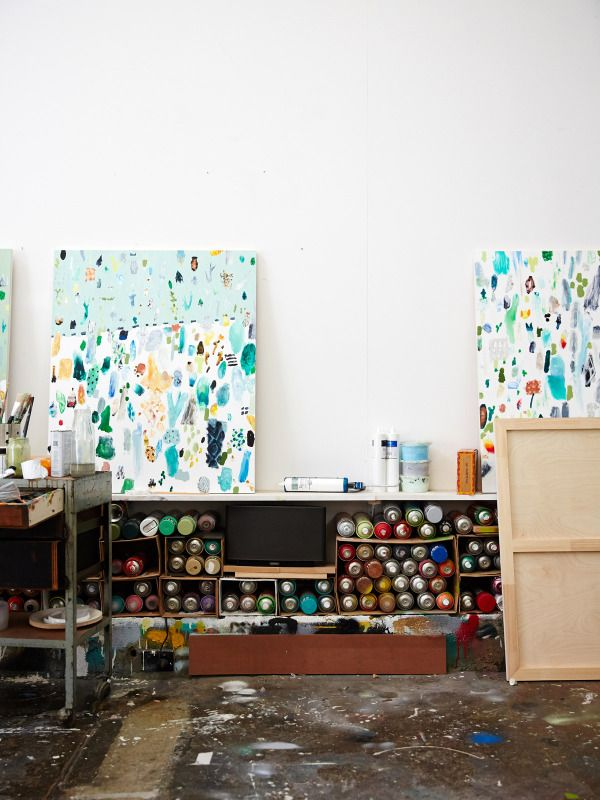 Details from the Footscay studio of artist Fred Fowler. Photo – Sean Fennessy for The Design Files.
