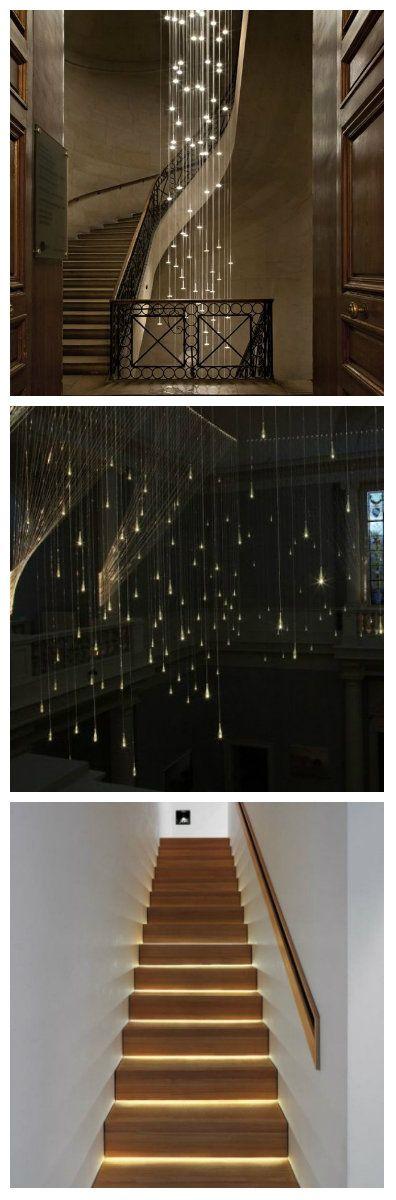 Если в вашем доме есть лестница, то правильное освещение может добавить ей оригинальности и визуально расширить пространство вокруг.  Световые дизайнеры предлагают множество идей, чтобы гармонично вписать изделие в интерьер дома, делая его более безопасным. Подсветка стен, перил и ступеней добавит изысканности пространству и выгодно выделит весь лестничный марш. Светодиоды подсветка светодиодное освещение