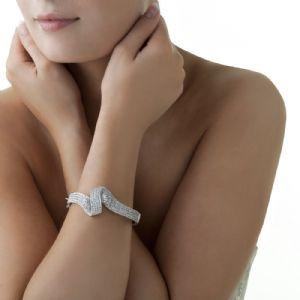 Newbridge Silverware Jewellery Greta Garbo Clear Stone Bracelet