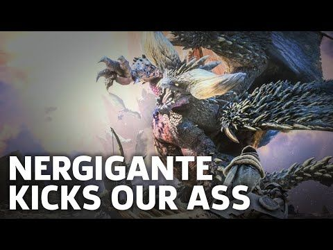 Monster Hunter: World PS4 Beta Gameplay - Nergigante Kicks Our Ass