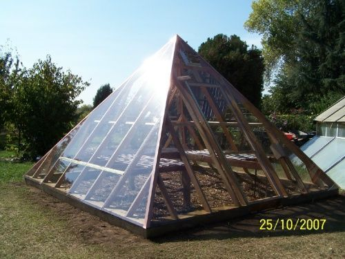Pyramid Greenhouse Building Plans Kits Design Ebay The
