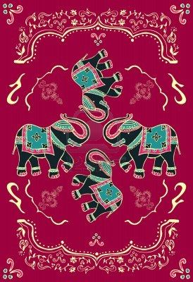 Traditional indian elephant decor
