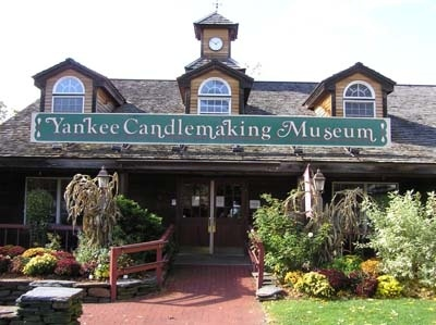The Yankee Candle Company  25 Greenfield Rd, South Deerfield, Massachusetts 01373   (413) 665-2929   Type: Museums & Monuments and Stores   Ages: All Ages   Cost: Free   Hours of operation: 9:30am to 6pm   Website: www.yankeecandle.com