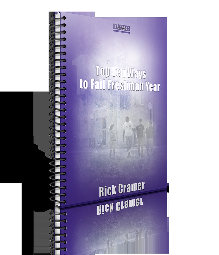 "Check out my free e-book! ""Top 10 Ways to Fail Freshman Year""   Let me know what you think."