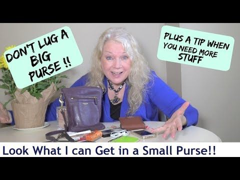 What's Inside my Small Purse I use most of time, Women Mature over 50 - YouTube