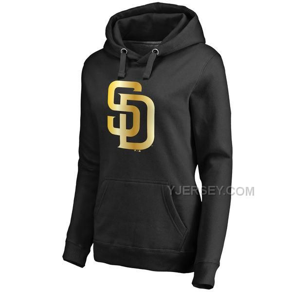 http://www.yjersey.com/san-diego-padres-womens-gold-collection-pullover-hoodie-black.html SAN DIEGO PADRES WOMEN'S GOLD COLLECTION PULLOVER HOODIE BLACKOnly$45.00 Free Shipping!