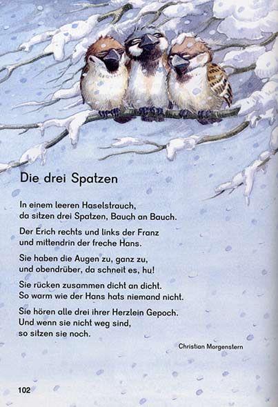 bernhard oberdieck  vögel im winter die drei spatzen
