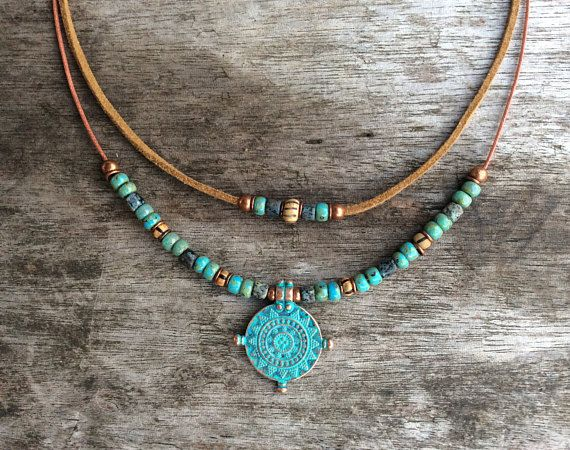 Boho necklace for women, Modern jewellery, Charm necklace, Bohemian necklace women, Tribal necklace, Boho jewelry for women