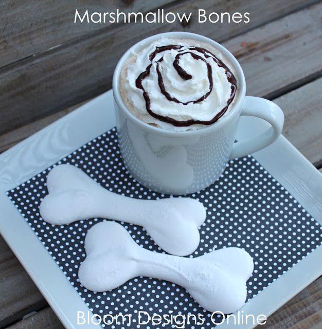 Make It Monday- Marshmallow Bones | Food | Pinterest