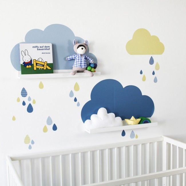 die besten 25 wandtattoo wolken ideen auf pinterest wandtattoo babyzimmer kinderzimmer wand. Black Bedroom Furniture Sets. Home Design Ideas