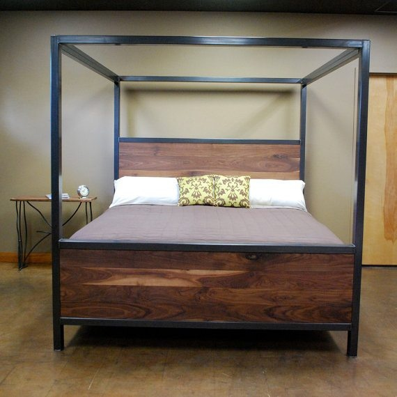 welded frame canopy bed