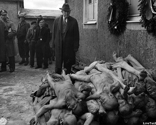 The horrors of the concentration  camps.  People were mainly killed by the acid showers