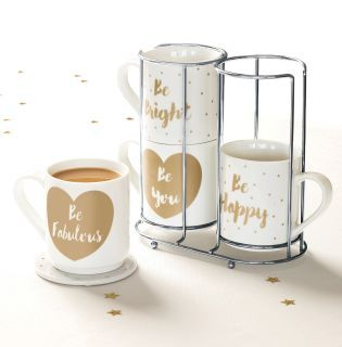 Is There Anything Better In Life Than A Good Old Cup Of Tea How Adorable Are These Stacking Mugs