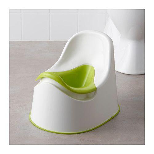 LOCKIG Children's potty, white green, green white/green -