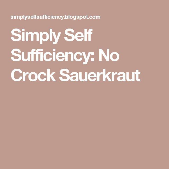 Simply Self Sufficiency: No Crock Sauerkraut