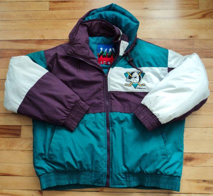 Vintage Anaheim Mighty Ducks XL Jacket NHL VTG by StreetwearAndVintage on Etsy