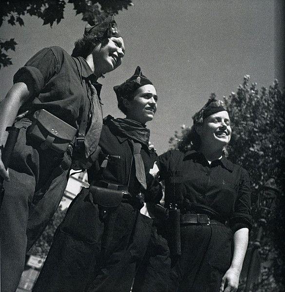 Tres milicianas. Autora: Gerda Taro (1910-1937)