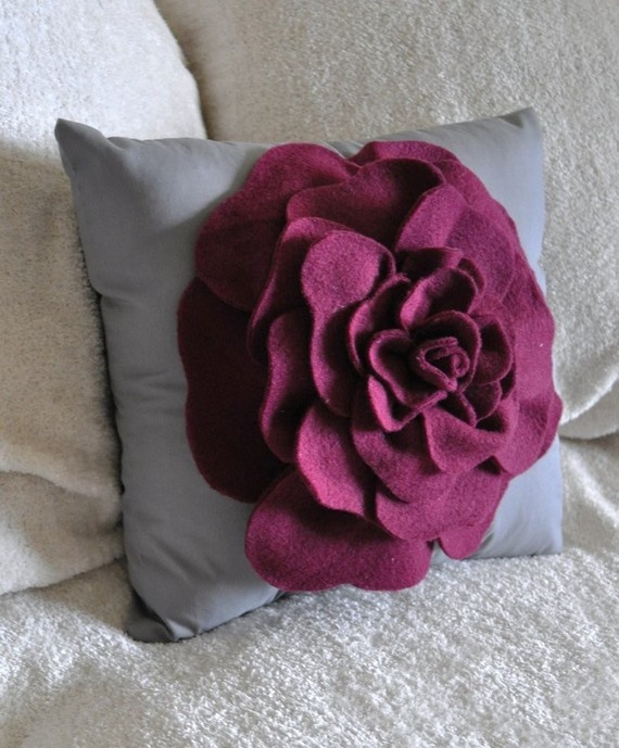 Fall Bedroom Decor Pinterest Bedroom Colour Grey Black And Purple Bedroom Decor Owl Bedroom Curtains: 17 Best Images About Felt Rose Pillows On Pinterest