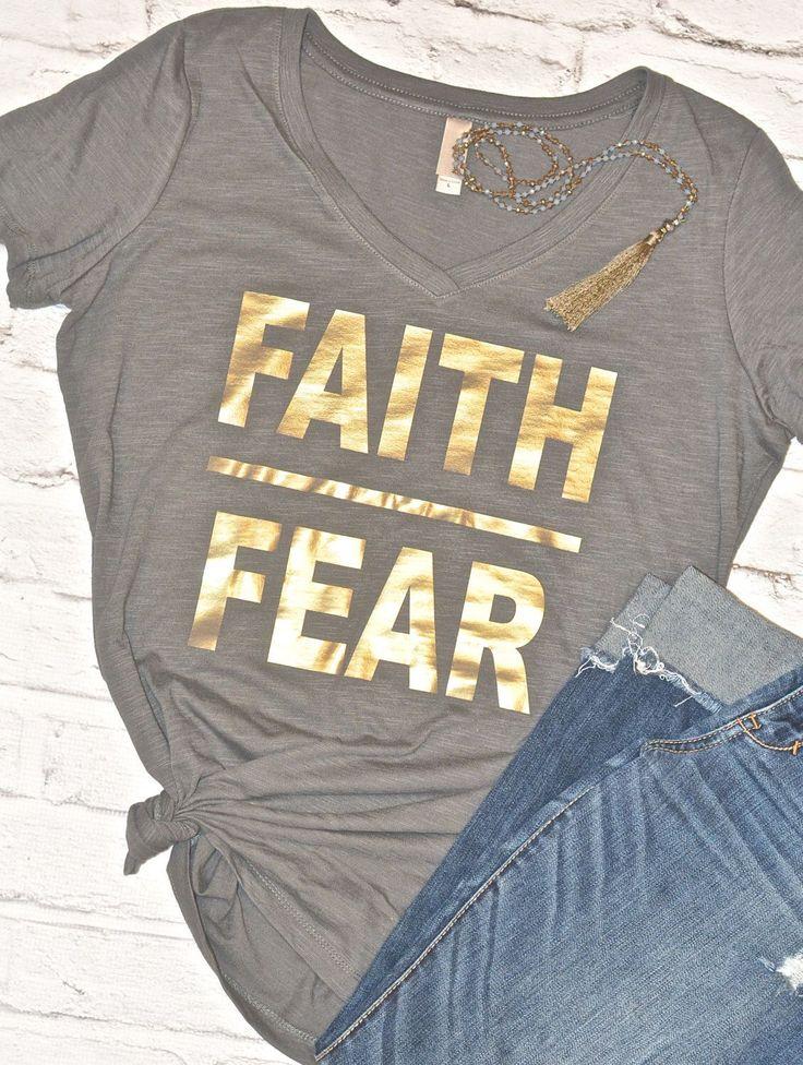 Faith over Fear, Mommy tee, Mom Tops, Faith, Mom tee, Women's tees, Women's t-shirts, Religious Tee, IVF Gift, Christmas Gift for Mom by Little17Shop on Etsy https://www.etsy.com/listing/495743079/faith-over-fear-mommy-tee-mom-tops-faith