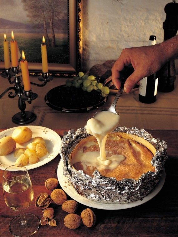 Baked Vacherin Mont d'Or Cheese  - delicious!!!
