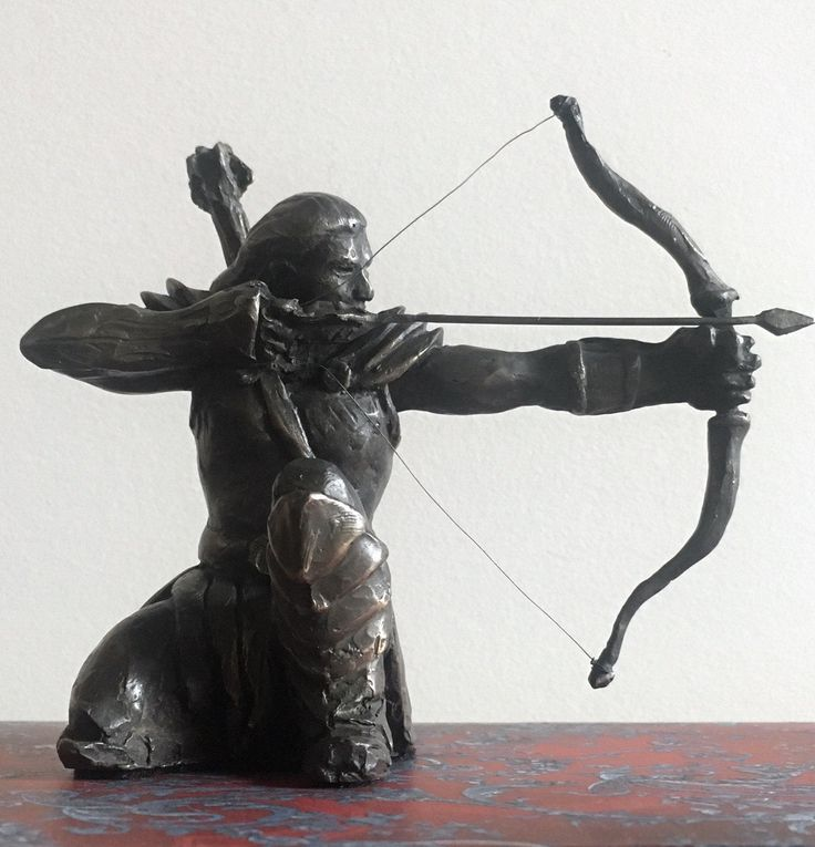 The Archer: The Arrow Already Exists in the Target, hand cast bronze sculpture by Canadian Artist Kindrie Grove by KindrieGroveStudios on Etsy