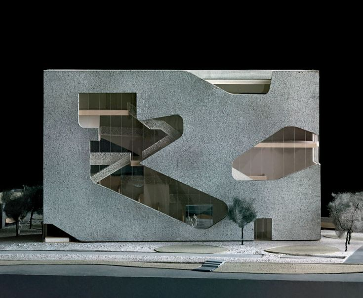 Steven Holl Architects || Hunters Point Community Library (via Gau Paris). Architecture  Model MakingLibrary ...