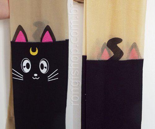 Meia calça gatinho Luna (Sailor Moon)