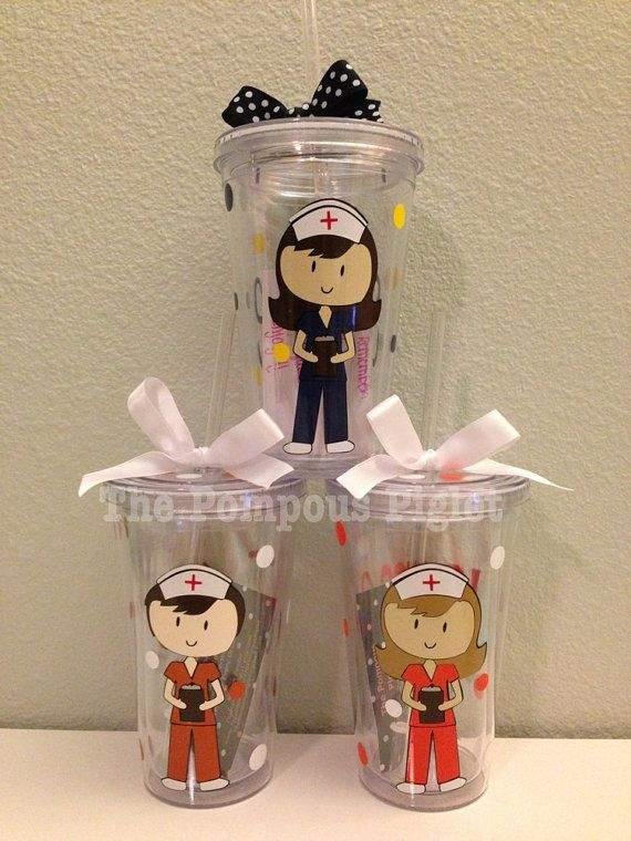 Personalized Nurse Tumbler by ThePompousPiglet on Etsy