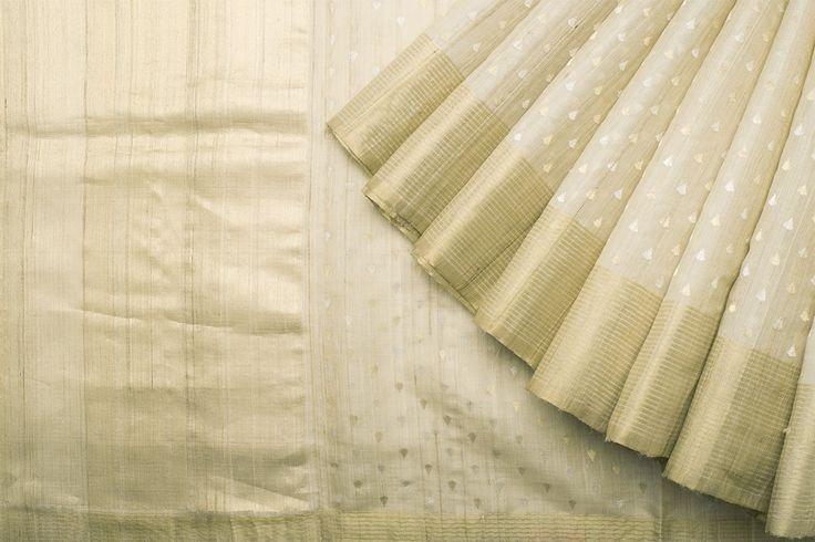 Urdir Handwoven Linen Silk Sari 1020225 - Sari / Silk Saris - Parisera