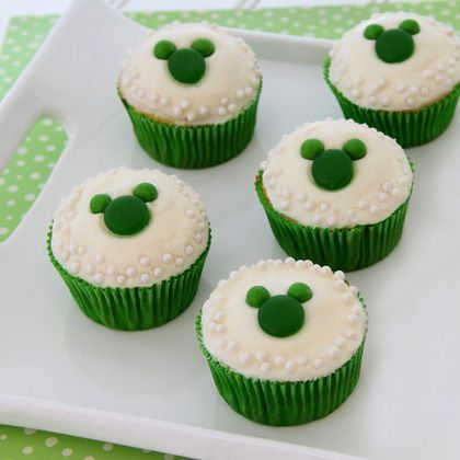 Bake the cutest green Mickey Mouse cupcakes for St. Patrick's Day! | [ http://family.disney.com/recipe/mickeys-saint-paddys-day-cupcakes ]