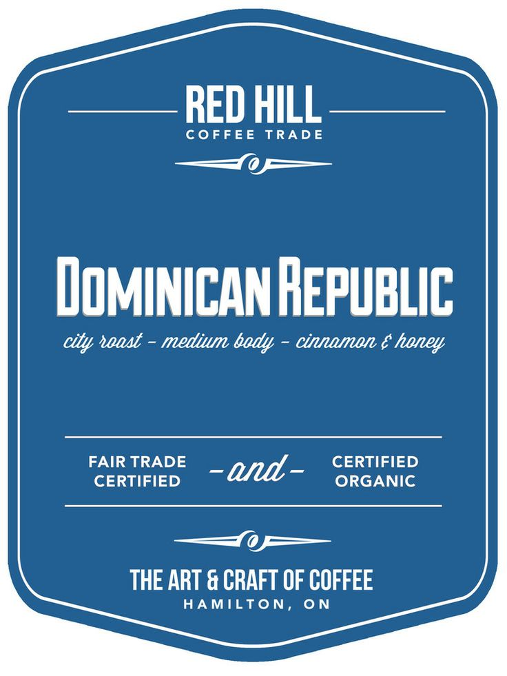 Dominican Republic - City roast, medium body, with notes of cinnamon and honey. Available to purchase online or in-store at E23 (our cafe on Concession St.) or at the Hamilton Farmer's Market.