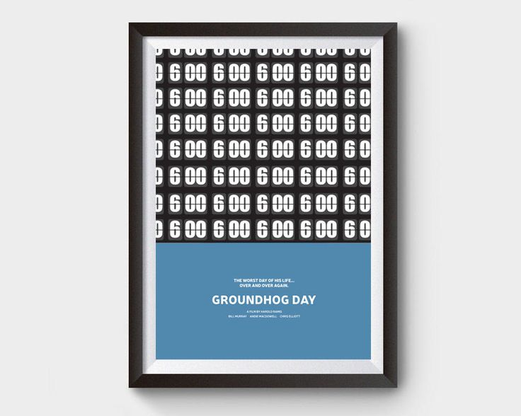 Groundhog Day movie poster- A3 movie, film poster, minimal, minimalist movie poster, typography, bill murray, groundhog day poster, poster by ArchiveFilmPosters on Etsy https://www.etsy.com/uk/listing/534769882/groundhog-day-movie-poster-a3-movie-film