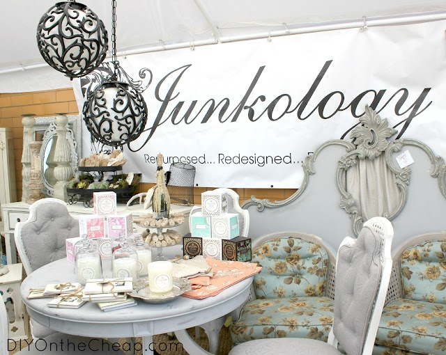 The Junkology booth at the Scott Antique Market in ATL.