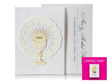 Gracias tarjeta 4 gracias tarjeta primera comunión doblado
