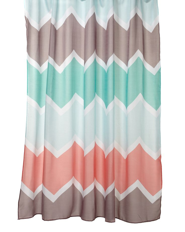 1000 Ideas About Coral Shower Curtains On Pinterest Shower Curtains Curtains And Chevron