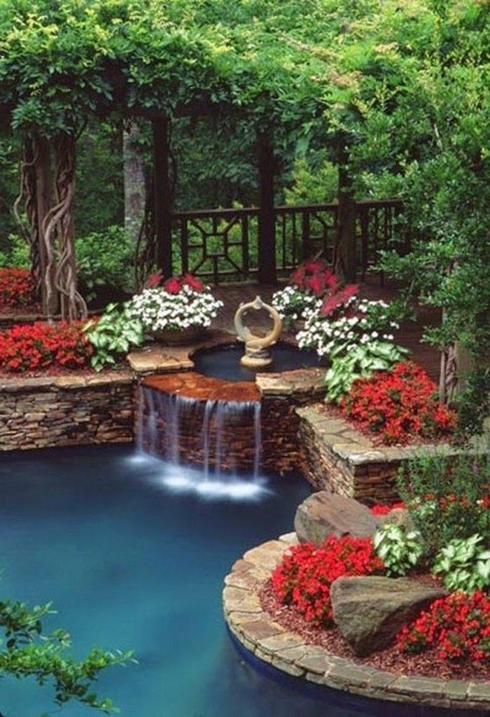 40 Awesome DIY Ponds Ideas with Small Waterfall | Ponds ...