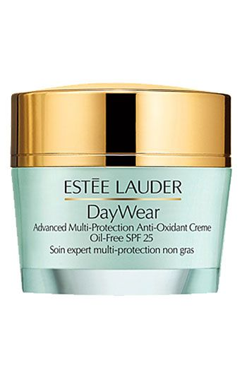 Estée Lauder 'DayWear' Advanced Multi-Protection Anti-Oxidant Oil-Free Creme SPF 25. I can't start my morning without this. Smells Amazing. I have oily to combination skin. Sensitive and prone to spots too. This stuff works