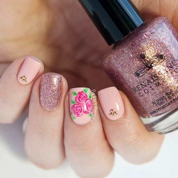 50 Flower Nail Styles for Spring | Beauty