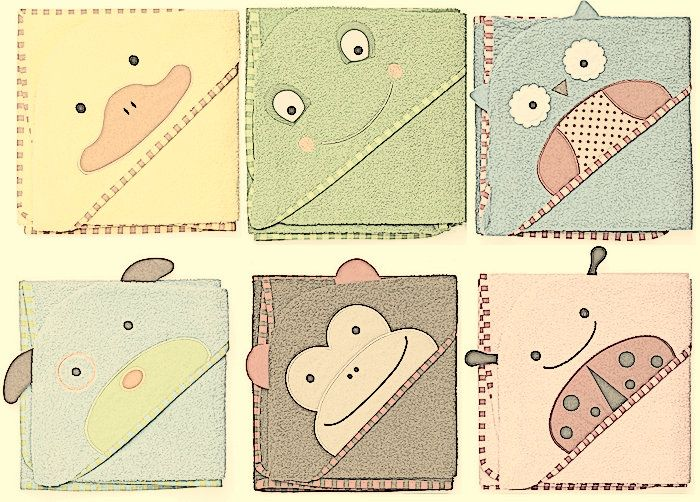 Toallas capa de animales para peques - Chupetes Personalizados - El blog de Tutete